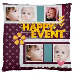 Flower Of Kids, Love, Happy By Mac Book   Large Cushion Case (two Sides)   I2fvtv3n7dur   Www Artscow Com Front
