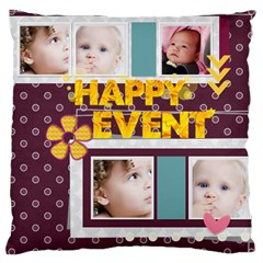 Flower Of Kids, Love, Happy By Mac Book   Large Cushion Case (two Sides)   I2fvtv3n7dur   Www Artscow Com Back