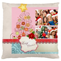 Merry Christmas, New Year, Happy, Family, Kids By Mac Book   Large Cushion Case (two Sides)   85ypspr705yb   Www Artscow Com Front