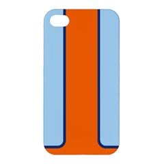 Gulf No Logo Apple Iphone 4/4s Hardshell Case by PocketRacers