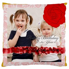 Flower Of Kids, Love, Happy By Joely   Large Cushion Case (two Sides)   Z0b6raa61gy9   Www Artscow Com Front
