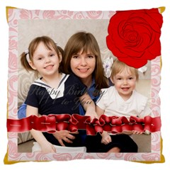 Flower Of Kids, Love, Happy By Joely   Large Cushion Case (two Sides)   Z0b6raa61gy9   Www Artscow Com Back