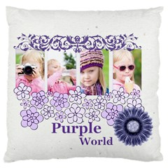 Love, Kids, Memory, Happy, Fun  By Joely   Large Cushion Case (two Sides)   Gch38xt2lixi   Www Artscow Com Back
