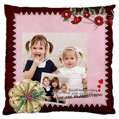 Love, Kids, Memory, Happy, Fun  By Joely   Large Cushion Case (two Sides)   Ivua0kdgqy7u   Www Artscow Com Front