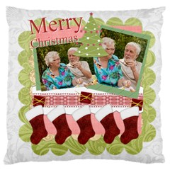 Merry Christmas, Happy New Year, Xmas By Joely   Large Cushion Case (two Sides)   Wskphvcik2uw   Www Artscow Com Back