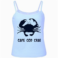 Cape Cod Crab Baby Blue Spaghetti Top by PatDaly718