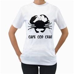 Cape Cod Crab White Womens  T-shirt by PatDaly718