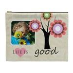 flower , kids, happy, fun, green - Cosmetic Bag (XL)