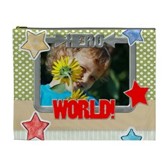 Flower , Kids, Happy, Fun, Green By Jacob   Cosmetic Bag (xl)   Pjjmlc64lewu   Www Artscow Com Front