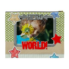 Flower , Kids, Happy, Fun, Green By Jacob   Cosmetic Bag (xl)   Pjjmlc64lewu   Www Artscow Com Back