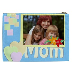 Flower , Kids, Happy, Fun, Green, Mothers Day By Jacob   Cosmetic Bag (xxl)   Mvqzxmp6rejf   Www Artscow Com Back