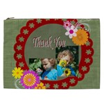 flower , kids, happy, fun, green - Cosmetic Bag (XXL)