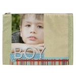 merry christmas, new year, happy, family, kids - Cosmetic Bag (XXL)