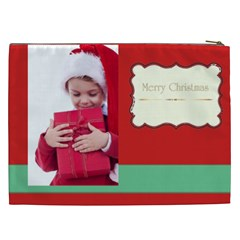 Merry Christmas, New Year, Happy, Family, Kids By Jacob   Cosmetic Bag (xxl)   Ua7qsn5q5awh   Www Artscow Com Back