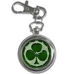 Leather-Look Irish Clover Key Chain Watch
