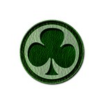 Leather-Look Irish Clover Rubber Round Coaster (4 pack)