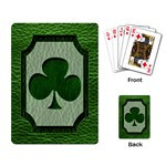 Leather-Look Irish Clover Playing Cards Single Design