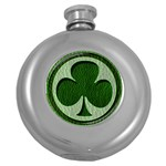 Leather-Look Irish Clover Hip Flask (5 oz)