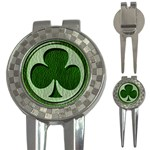 Leather-Look Irish Clover 3-in-1 Golf Divot