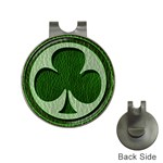 Leather-Look Irish Clover Golf Ball Marker Hat Clip