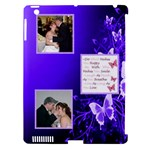 Purple Butterfly Apple iPad 3/4 Hardshell Case (compatible with Smart Cover)