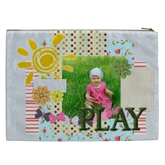 Kids, Love, Fun, Happy, Holiday,child, Love By Jacob   Cosmetic Bag (xxl)   M9hb2dziwlc5   Www Artscow Com Back