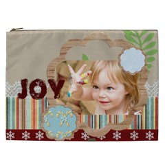 Merry Christmas, Happy New Year, Xmas By Jacob   Cosmetic Bag (xxl)   6gm1129hi3pg   Www Artscow Com Front