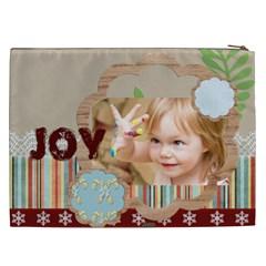 Merry Christmas, Happy New Year, Xmas By Jacob   Cosmetic Bag (xxl)   6gm1129hi3pg   Www Artscow Com Back