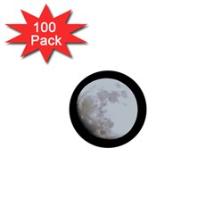 Moon 100 Pack Mini Button (Round) by LigerTees