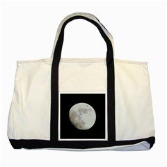 Moon Two Toned Tote Bag by LigerTees