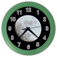 Moon Colored Wall Clock by LigerTees