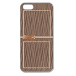 shevron and polka dot iPhone 5 case - Apple Seamless iPhone 5 Case (Clear)