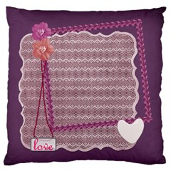 Purple Love By Zornitza   Large Cushion Case (two Sides)   Hkvh8q3nfsrb   Www Artscow Com Front
