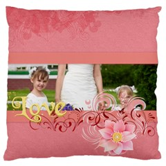 Love Of Kids By Man   Large Cushion Case (two Sides)   E6ncf73sfr2z   Www Artscow Com Front