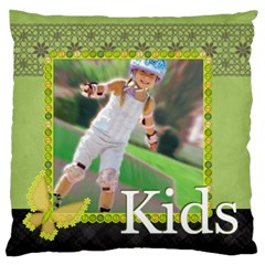 Kids , Flower , Happy, Fun By Man   Large Cushion Case (two Sides)   72ftksawt12k   Www Artscow Com Front