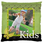 kids , flower , happy, fun - Large Cushion Case (Two Sides)