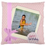happy birthday - Large Cushion Case (Two Sides)