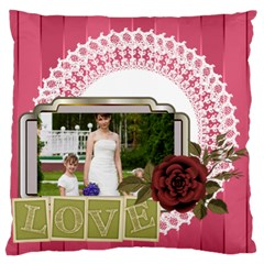 Love, Kids, Memory, Happy, Fun  By Man   Large Cushion Case (two Sides)   97nh569qlf0d   Www Artscow Com Front