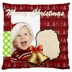 Merry Christmas, Xmas, Happy New Year  By Man   Large Cushion Case (two Sides)   Cimplgzlez1y   Www Artscow Com Front