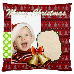 Merry Christmas, Xmas, Happy New Year  By Man   Large Cushion Case (two Sides)   Cimplgzlez1y   Www Artscow Com Back