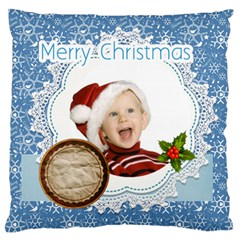 Merry Christmas, Xmas, Happy New Year  By Man   Large Cushion Case (two Sides)   Kff17b83tt5u   Www Artscow Com Front