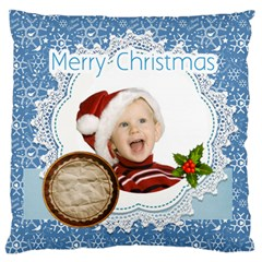 Merry Christmas, Xmas, Happy New Year  By Man   Large Cushion Case (two Sides)   Kff17b83tt5u   Www Artscow Com Back