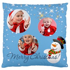 Merry Christmas, Xmas, Happy New Year  By Man   Large Cushion Case (two Sides)   Dai8j2j4qcwy   Www Artscow Com Back