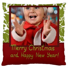 Merry Christmas, Xmas, Happy New Year  By Man   Large Cushion Case (two Sides)   M8mih92clsw9   Www Artscow Com Front