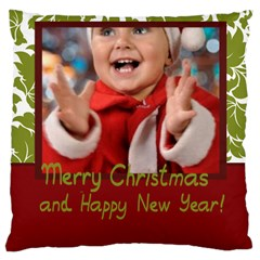 Merry Christmas, Xmas, Happy New Year  By Man   Large Cushion Case (two Sides)   M8mih92clsw9   Www Artscow Com Back