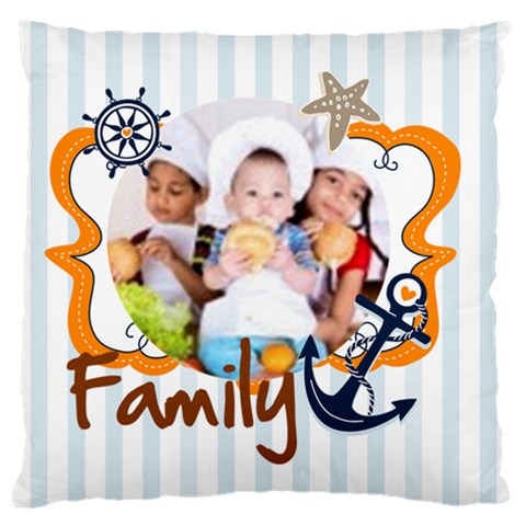 Love, Kids, Happy, Fun, Family, Holiday By Mac Book   Large Cushion Case (one Side)   Auy61casmoeo   Www Artscow Com Front