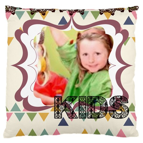 Love, Kids, Happy, Fun, Family, Holiday By Mac Book   Large Cushion Case (one Side)   Mbdad0lye7ci   Www Artscow Com Front