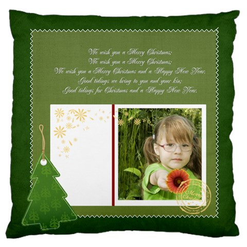Merry Christmas, Happy New Year By Mac Book   Large Cushion Case (one Side)   W12nu2whjwaq   Www Artscow Com Front