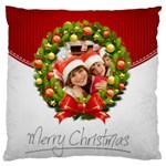 merry christmas, happy new year, xmas - Large Cushion Case (One Side)