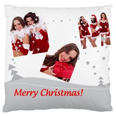Merry Christmas, Happy New Year, Xmas By Angena Jolin   Large Cushion Case (two Sides)   Kg8qqh6cg83a   Www Artscow Com Back